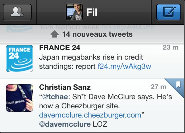 """Une barre """"nouveaux tweets"""" refaite aussi"""