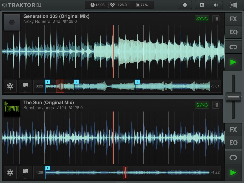 capture d'écrande Traktor DJ